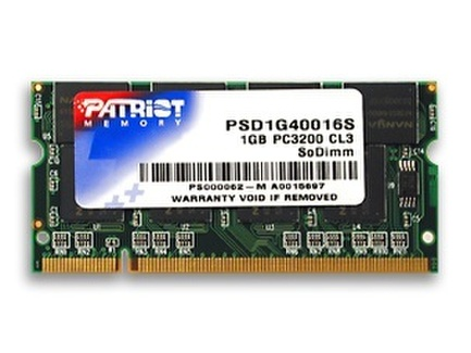 Patriot 1GB 400MHz DDR CL3 SODIMM