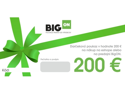 Darčekový poukaz - 200€