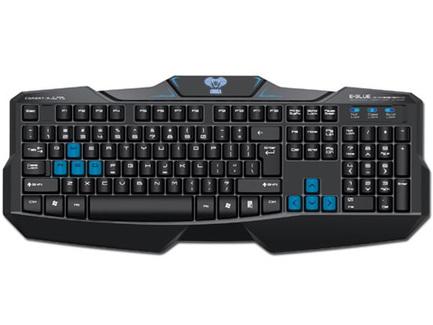 E-BLUE Klávesnica Cobra EKM746, herná, čierna, drôtová (USB), CZ/SK