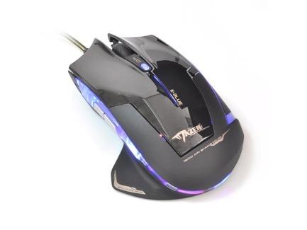 E-Blue Myš Mazer R, optická, 6tl., 1 koliesko, drôtová (USB), čierna, 2400DPI, herná