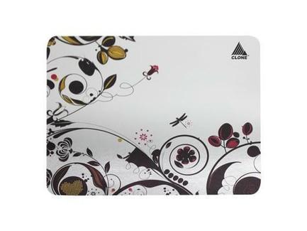 Lesklá papierová podložka pod myš - kvetiny