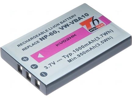 Baterie T6 power Fuji NP-60, KLIC-5000, NP-30, LI-20B, A1812A, L1812A, L1812B, BT.6530A.002, PX1656, SLB-1037, VW-VBA10,