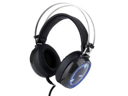 E-Blue, EHS965, herné slúchadlá s mikrofónom, ovládanie hlasitosti, čierna, 3.5 mm jack + USB podsvietené