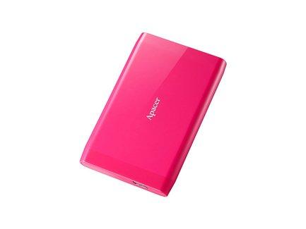 """Apacer externý pevný disk, AC235, 2.5"""", USB 3.1, 500GB, AP500GAC235P-1, ružový, LED indikátor rýchlosti prenosu"""