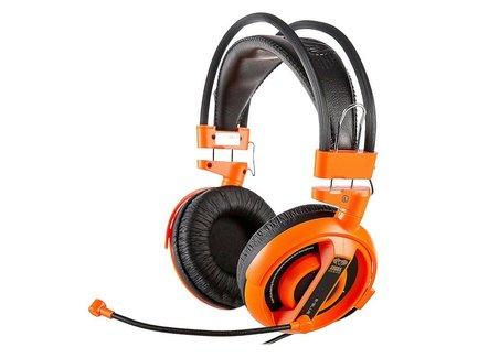 E-Blue, Cobra I, herné slúchadlá s mikrofónom, oranžová, 3.5 mm jack