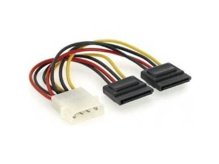 SATA Power kábel / napájacia redukcia 1x MOLEX 5,25 na 2xSATA