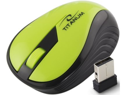 Titanum TM114G RAINBOW bezdrôtová optická myš, 1000 DPI, 2.4GHz, 3D, zelená