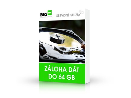 Záloha dát do 64 GB