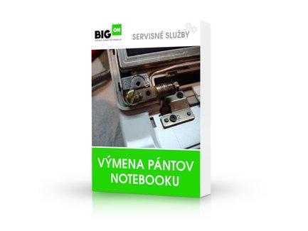 Výmena pántov notebooku