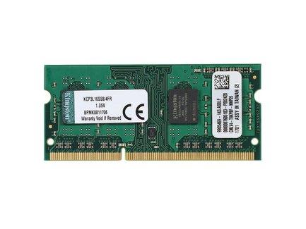 4GB 1600MHz Low Voltage SODIMM, KINGSTON Brand (KCP3L16SS8/4)