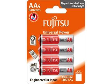 Fujitsu Universal Power alkalická baterie LR06/AA, blistr 4ks