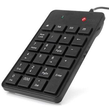 C-TECH klávesnice numerická KBN-01, 23 kláves, USB slimblack KBN-01